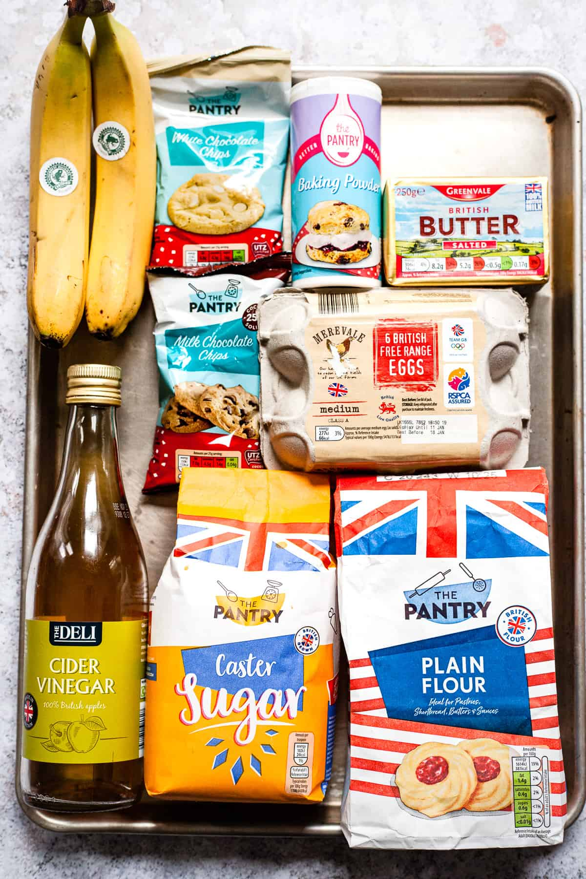 Aldi ingredients for banana chocolate muffins
