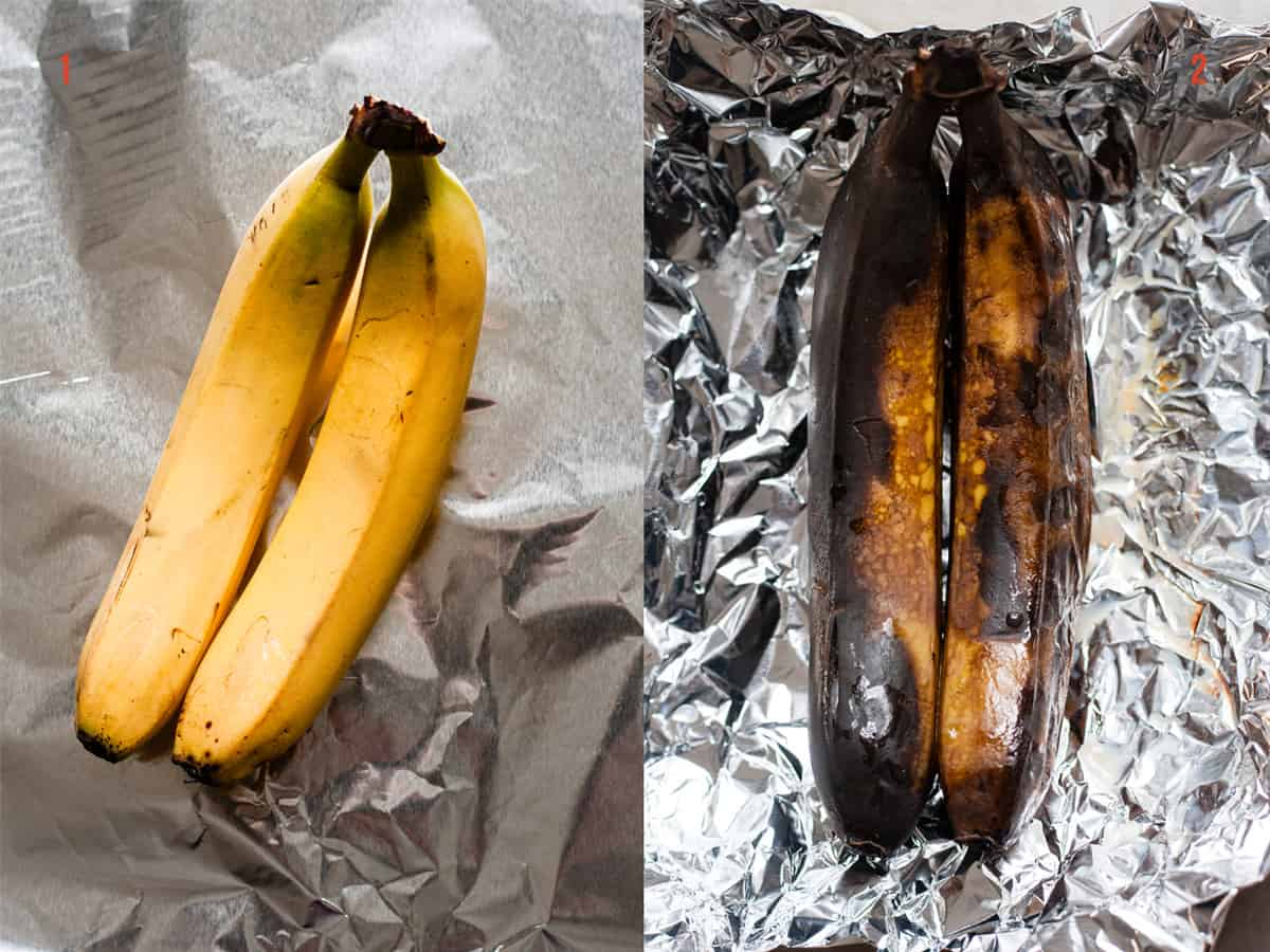 roasting bananas for muffins
