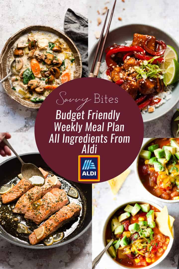 Aldi meal plan photo collage