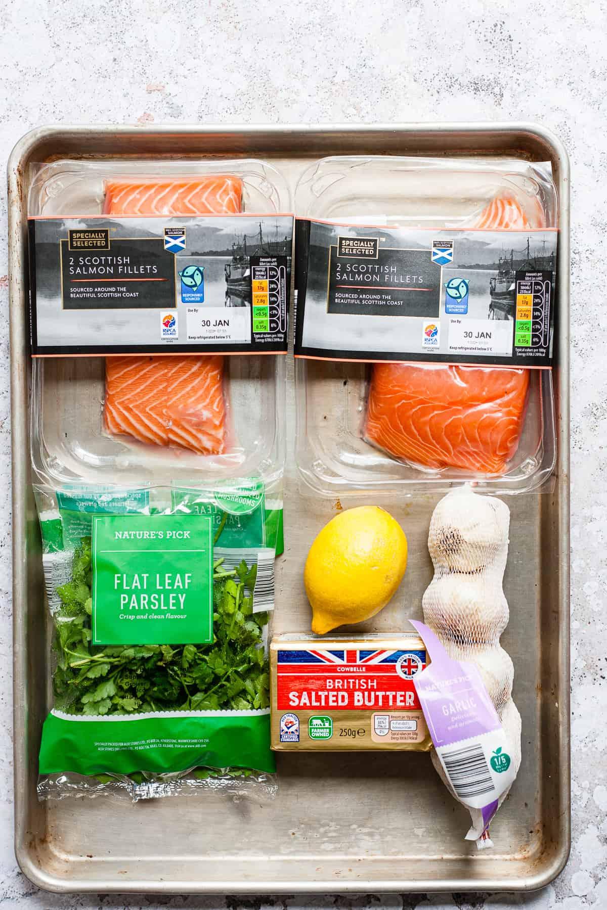 Aldi Ingredients for garlic butter salmon