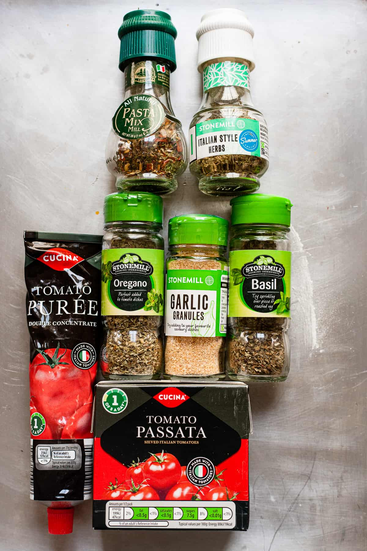 Aldi ingredients for making easy pizza sauce