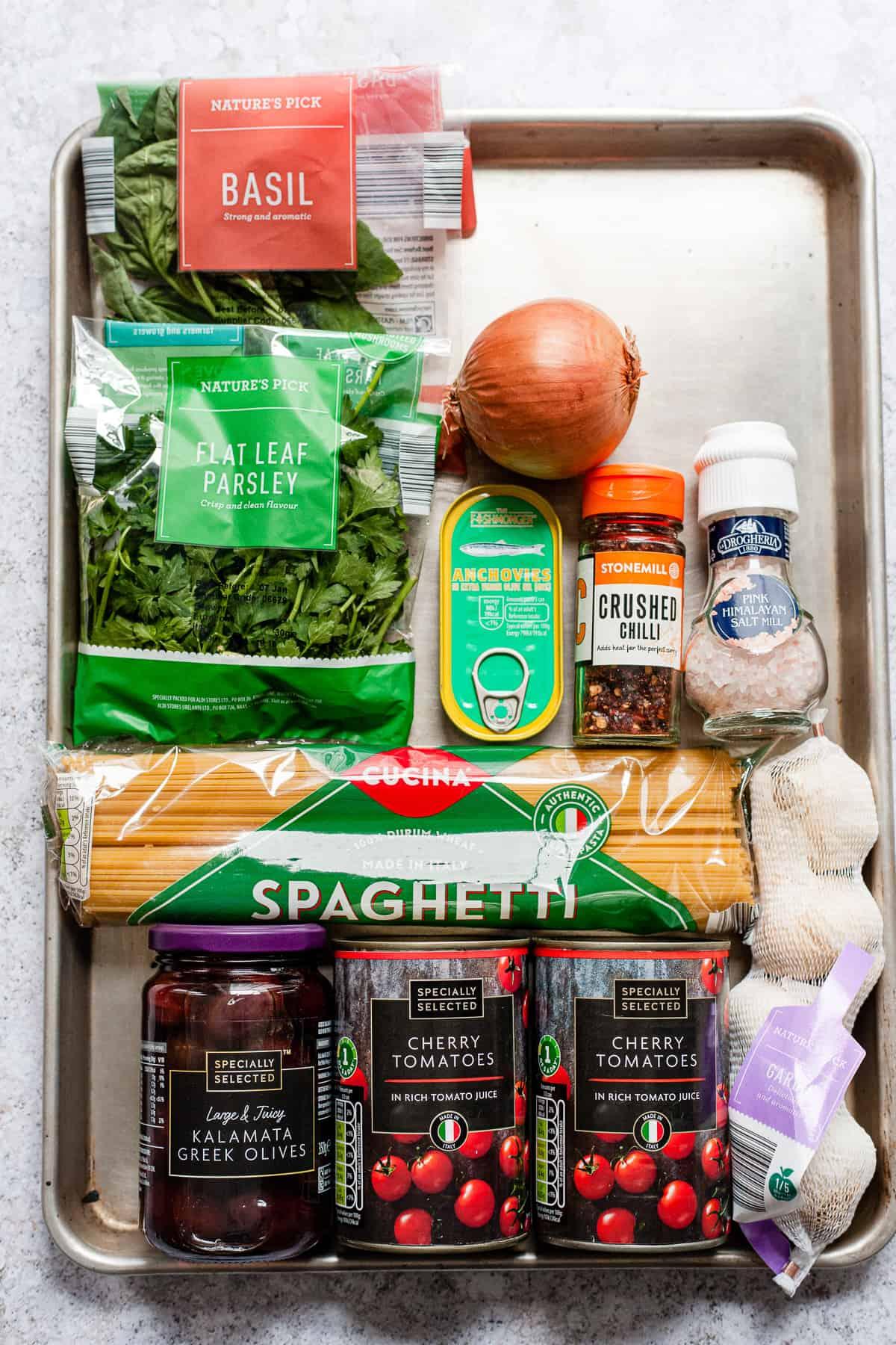 Aldi ingredients for making puttanesca pasta
