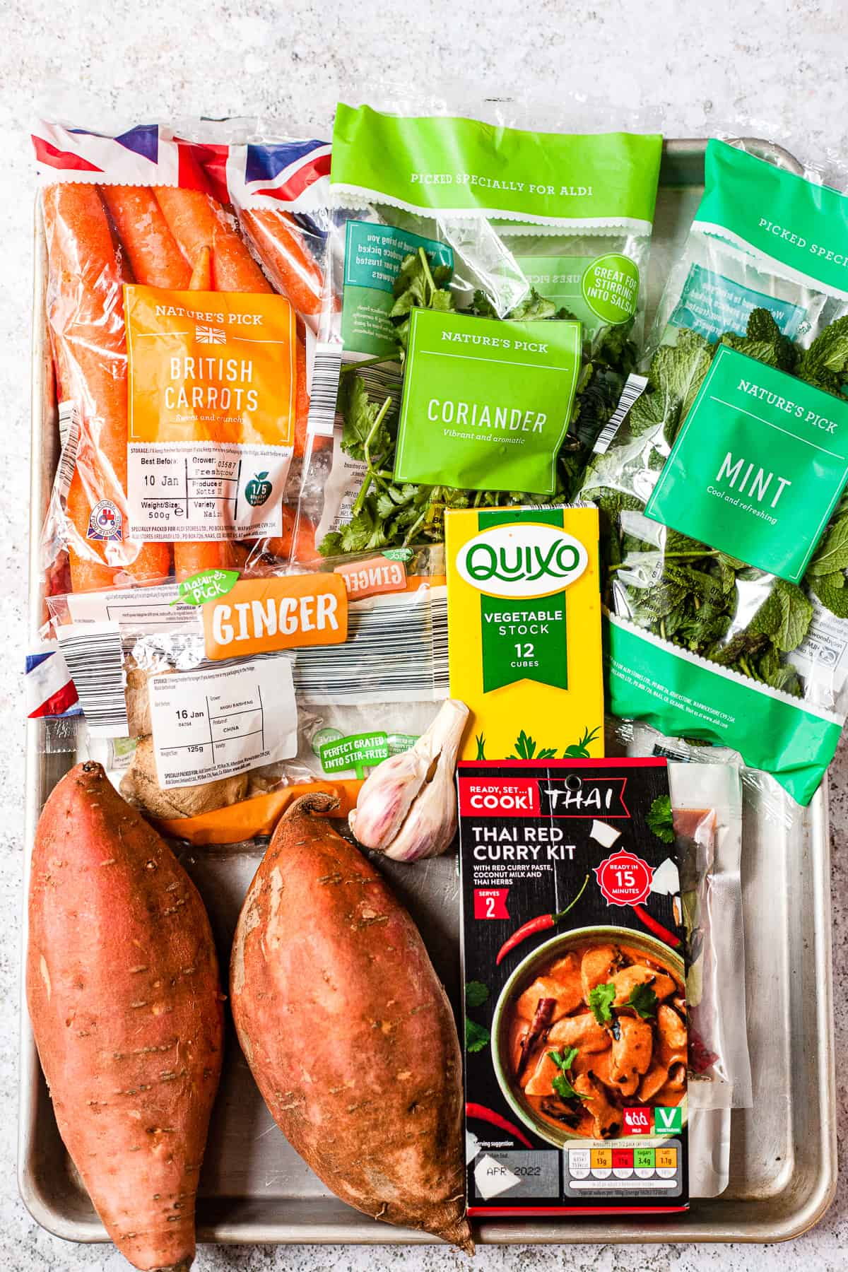 Aldi ingredients for sweet potato and carrot soup