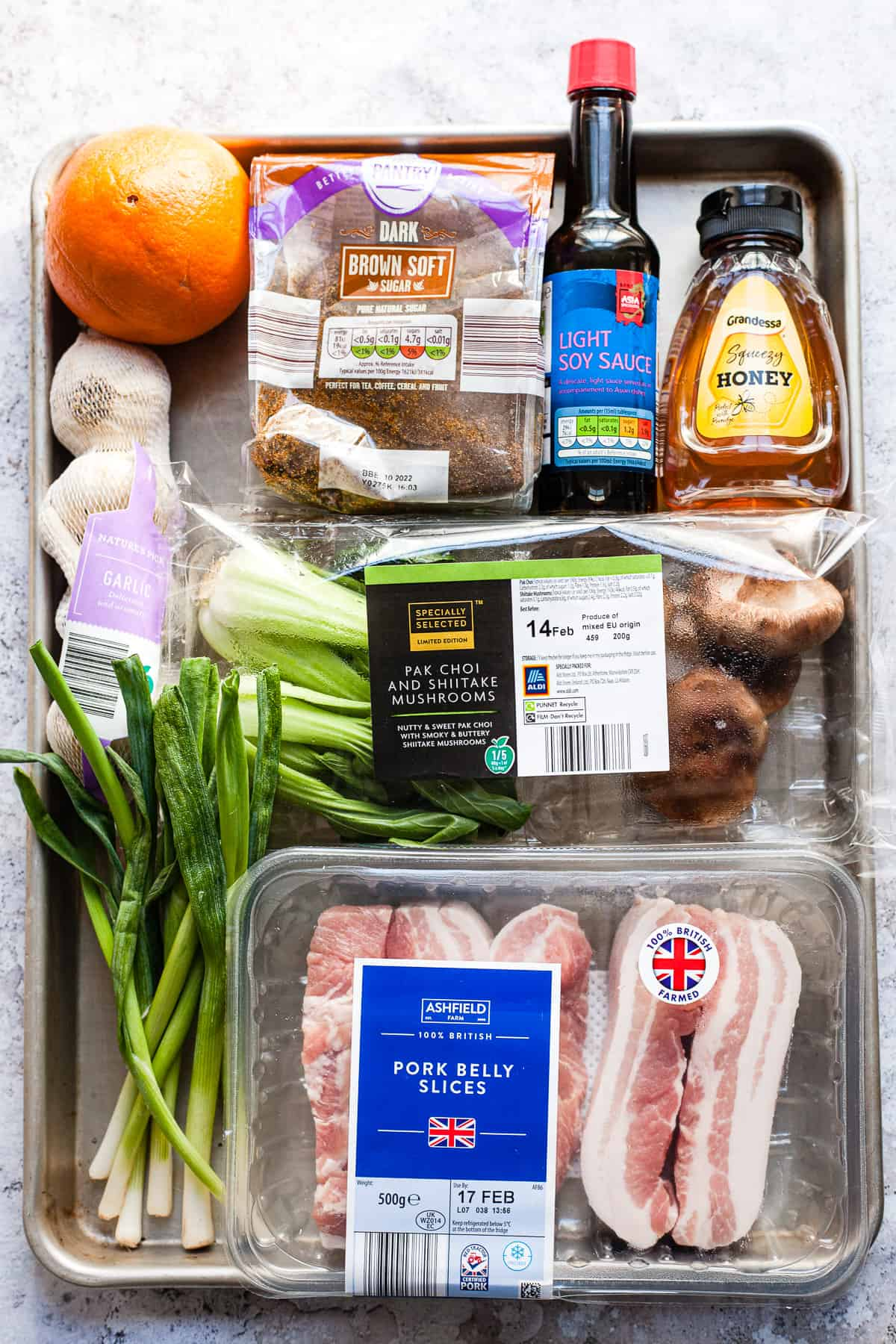 Aldi Ingredients for Chinese pork belly slices