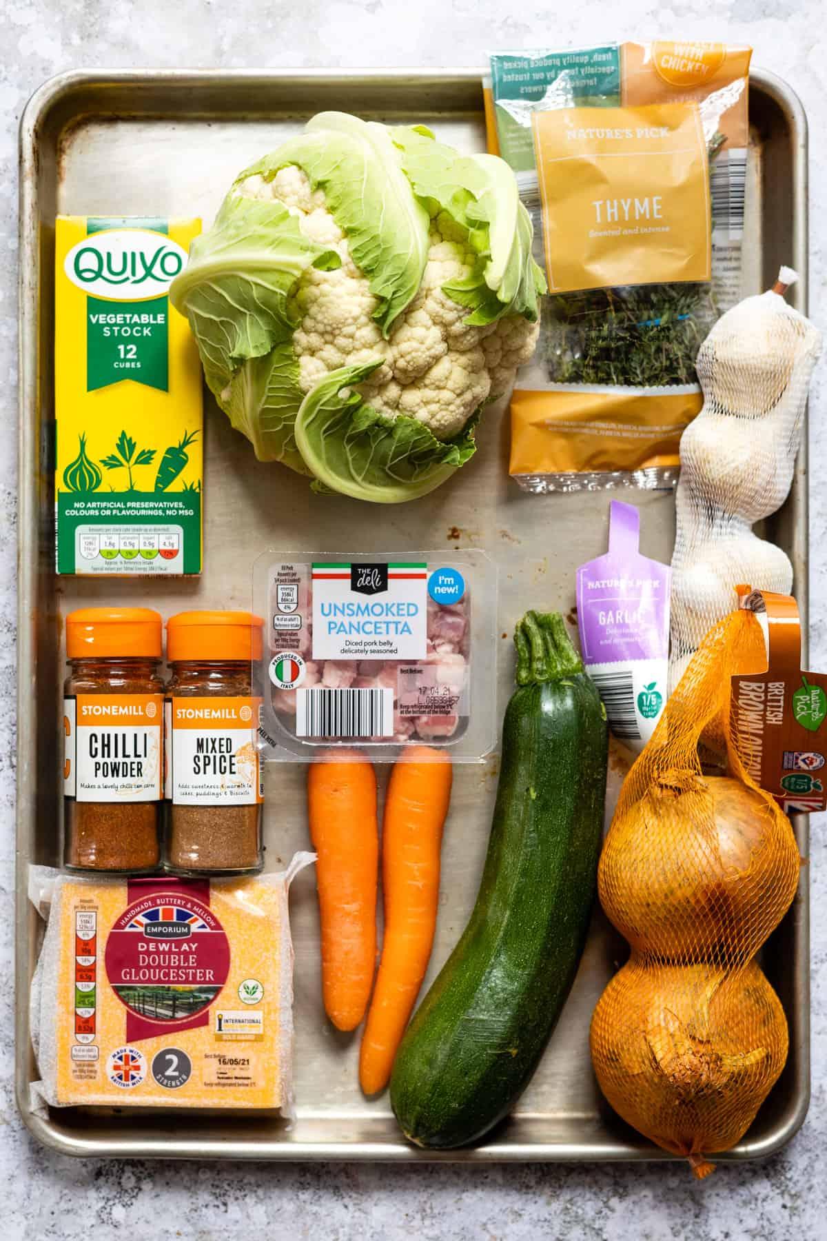 Aldi ingredients for cauliflower soup