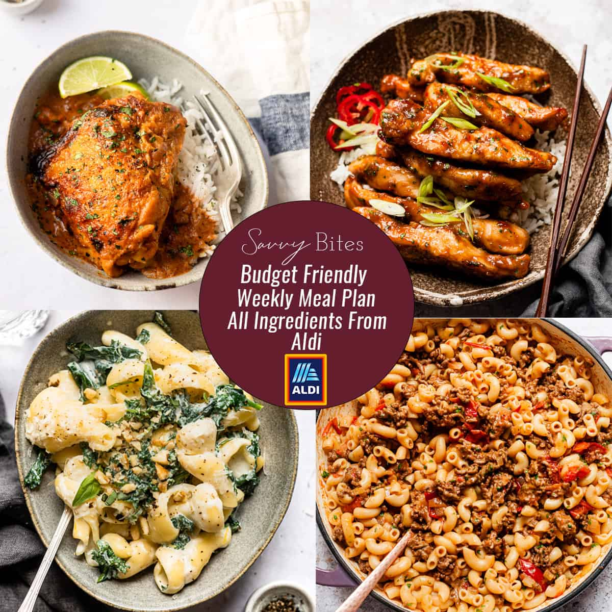 photos of Aldi meal plan recipes