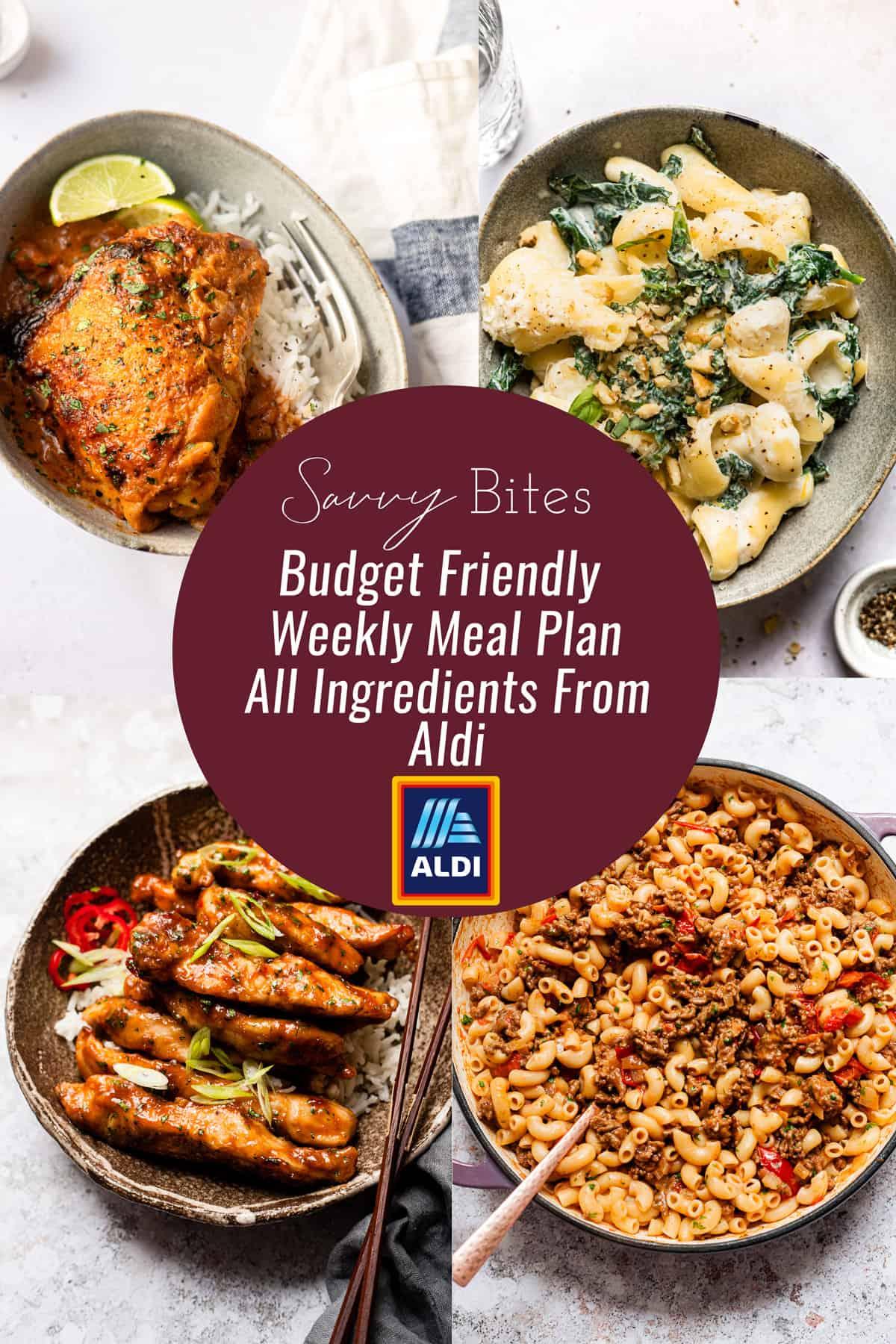 Aldi budget meal plan photos