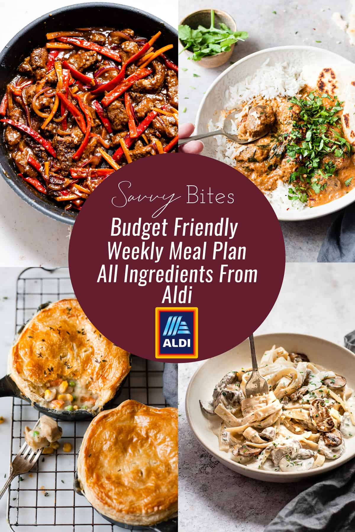 Healthy meal plan for the week