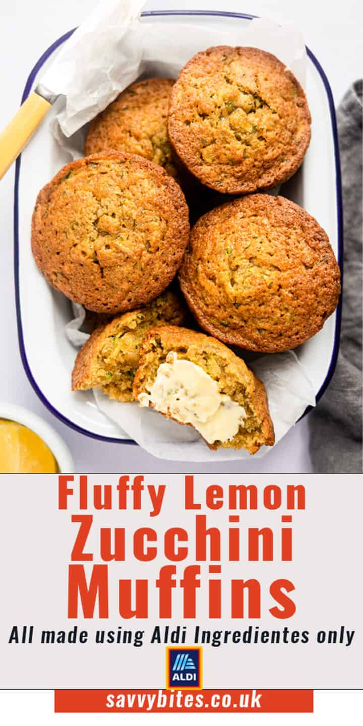 courgette muffins in a tin with some butter- aldi recipe