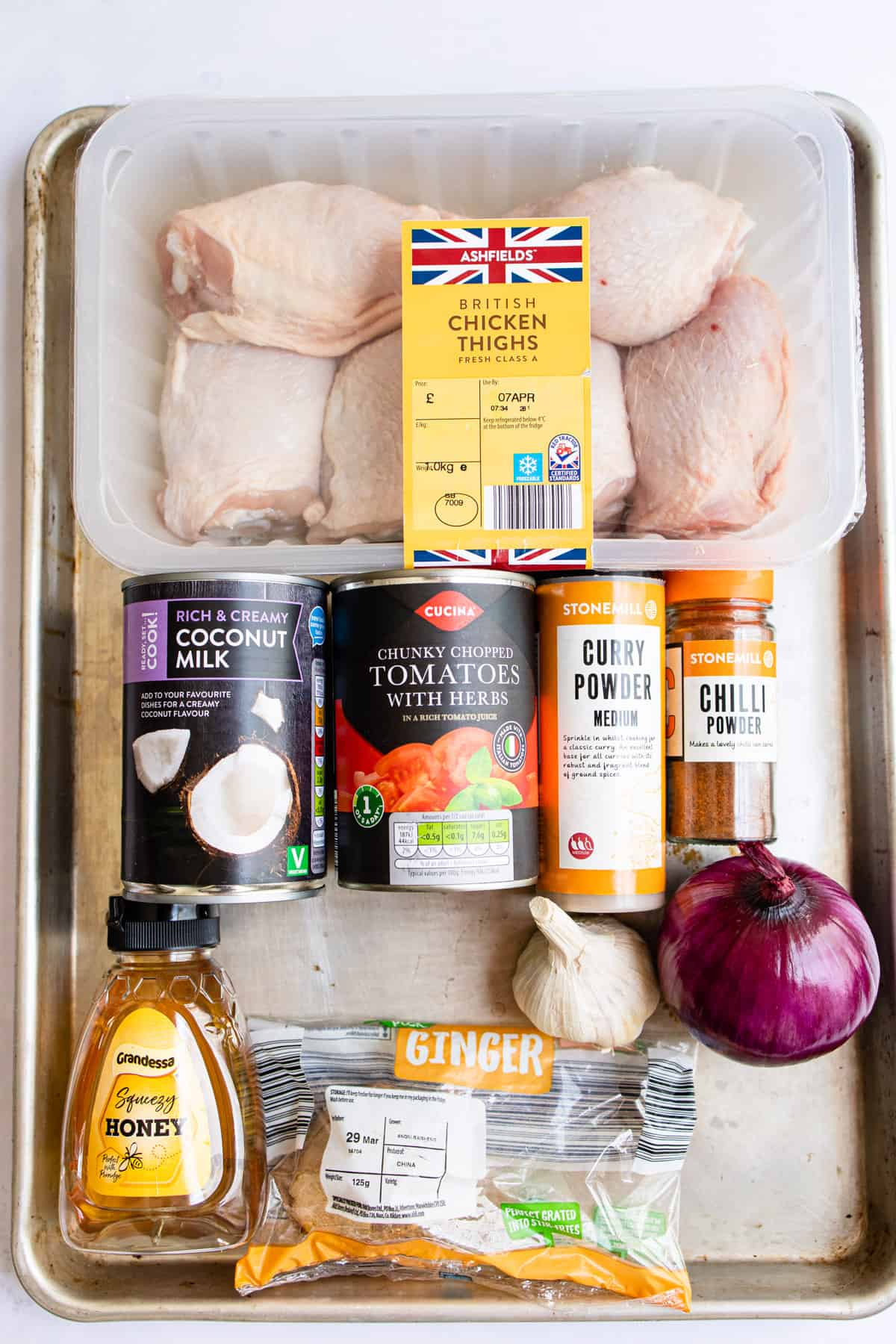 aldi ingredients for chicken thigh curry