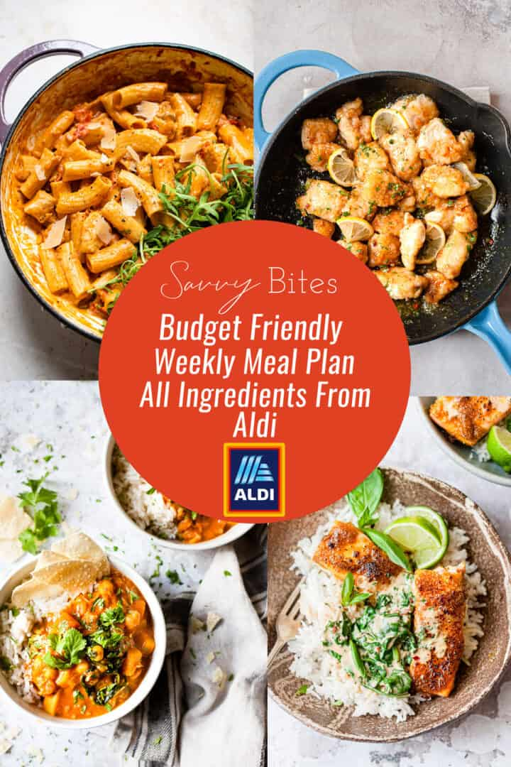 Aldi budget meal plan- cheap family meals