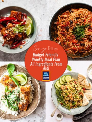 Aldi Budget Meal Plan menu