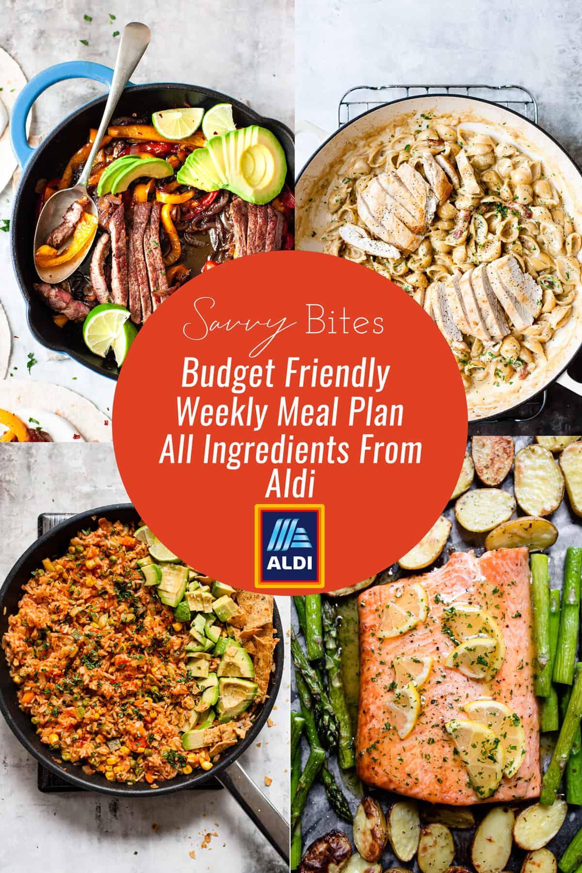 Aldi Budget meal plan photos May 17