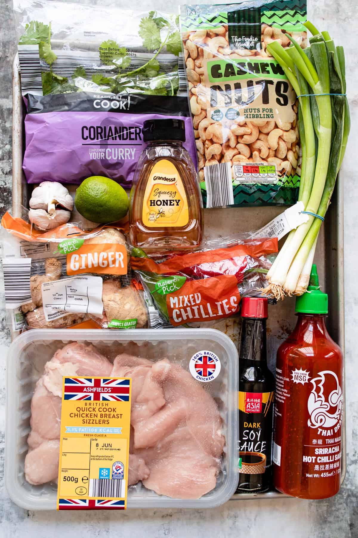 Aldi ingredients for crispy chilli chicken