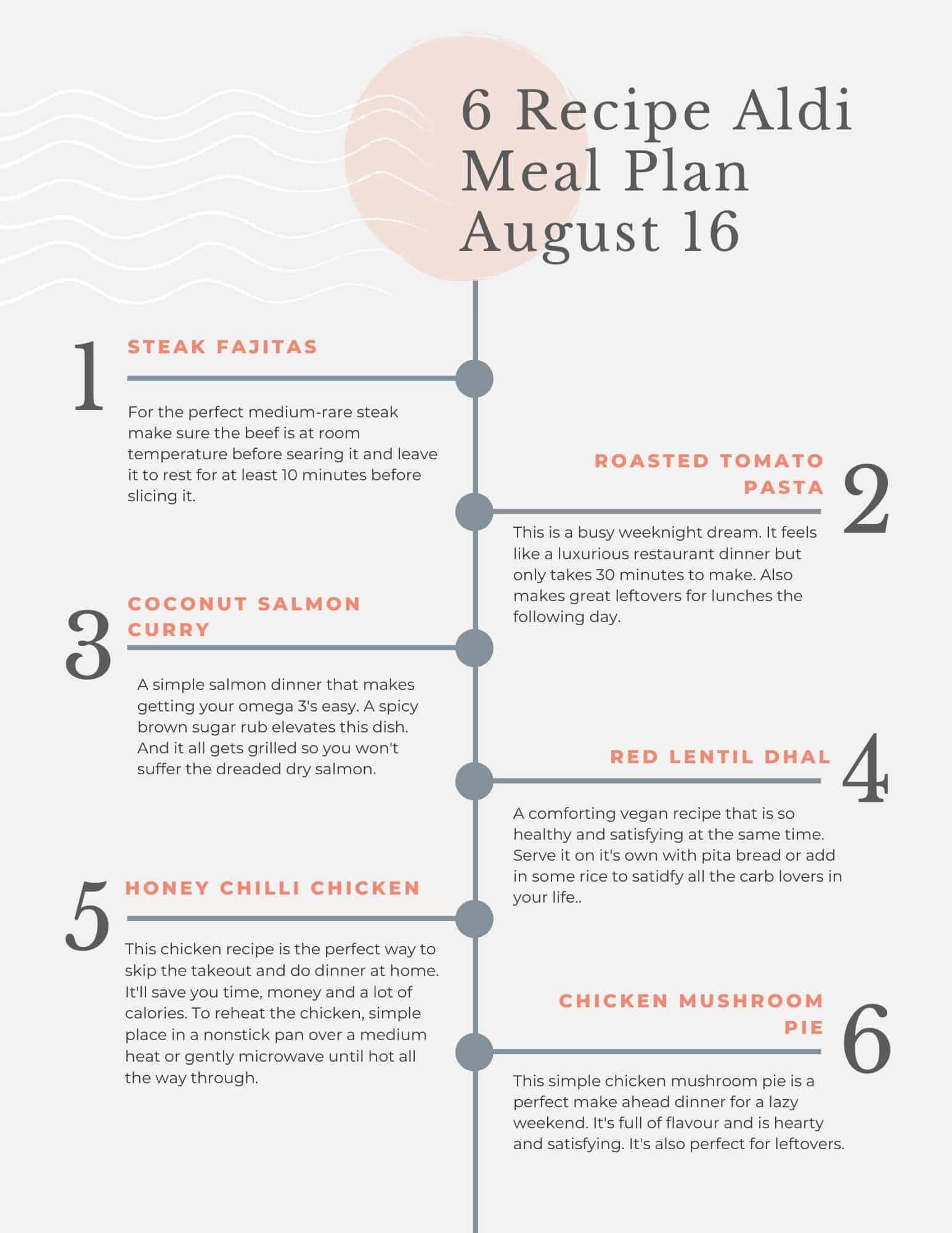 Aldi meal plan printout