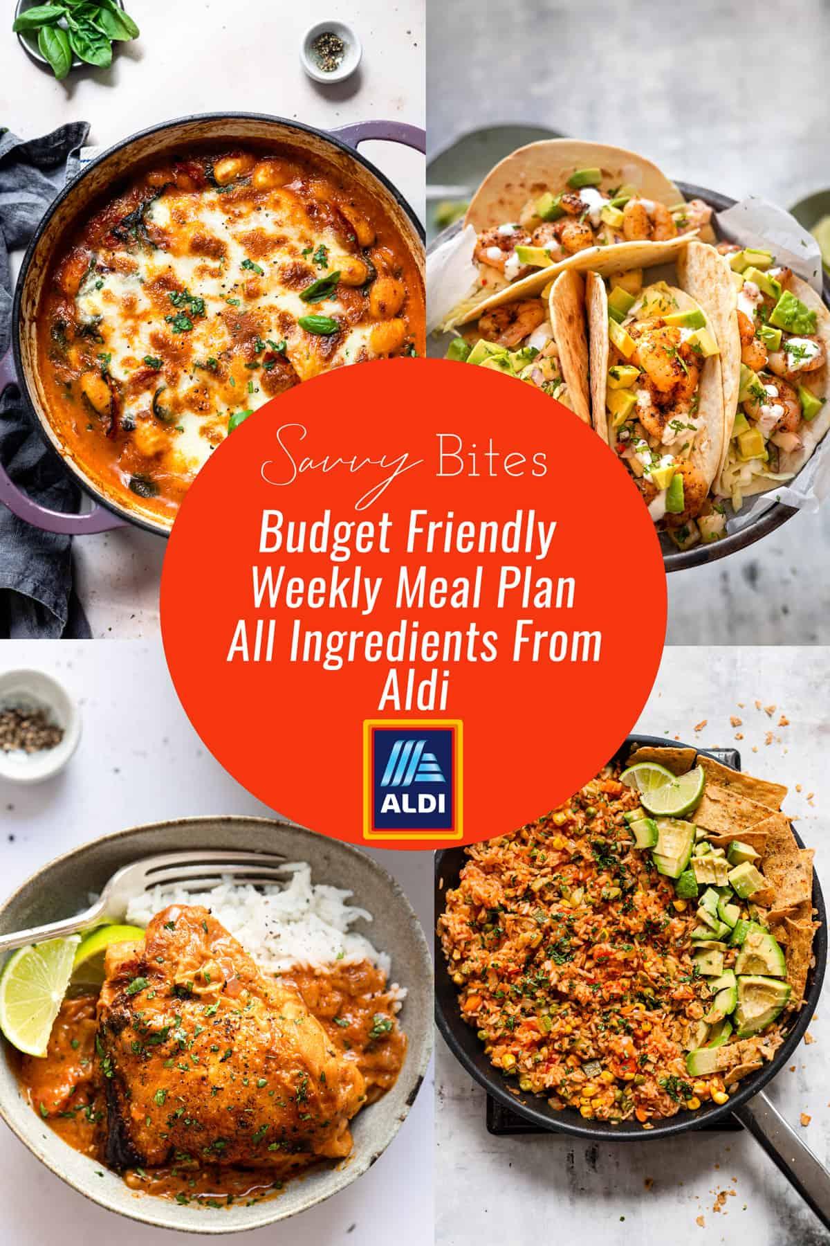 Aldi budget meal plan September 13